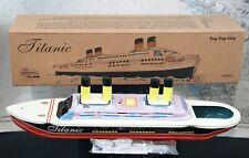 Bateau tôle pop-pop steam boat TITANIC blech boot tin toy