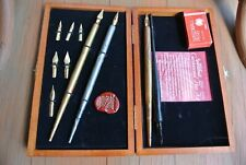 Vtg Speedball Centennial Pen Set 1899-1999 Marble Designs Wax Seal Box Doz C6