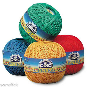 DMC PETRA Crochet Cotton Knitting Yarn Thread Perle 5 100g