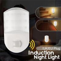 9XLED Super Bright Plug In Pir Motion Sensor Led Night Light Bedroom Wall Lamp-