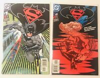 Superman/Batman #1 & 2 (2003 DC) B Cover Variant Batman Cover for #1
