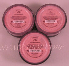 Bare Escentuals BareMinerals Blush Vintage Peach for Face Cheeks .85g - Lot of 3