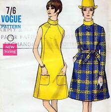 """Vintage 60 s mod ROBE & MANTEAU sewing pattern Uncut buste 36"""" SZ 12 Rétro Soirée"""