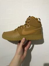 Mens Nike Court Borough Mid Winter Boots Wheat Brown Trainers-AA0547 700-UK 8