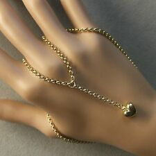 9 ct GOLD second hand heart on chain