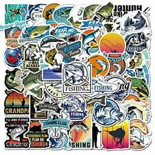 Go Fishing Stickers Pack 50-Pcs Decals of Fishing Bumper Stickers Decals for .