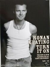"RONAN KEATING ""TURN IT ON"" THAILAND PROMO POSTER - Boyzone"