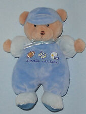 Carters Just One Year Little Athlete Teddy Bear Rattle Football Plush Baby Toy