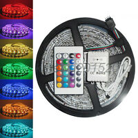 SUPERNIGHT® 5M 5050 RGB SMD Waterproof led Strip 300 LEDs + 24 Key IR Remote