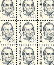 1985 - JOHN J. AUDUBON - #1863 Full Mint -MNH- Sheet of 100 Postage Stamps
