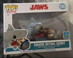 Jaws Shark Bitting Quint Convention 2019 Funko Pop