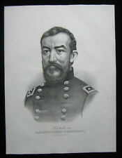 1872 Original Currier & Ives Portrait of Civil War General Phillip H Sheridan