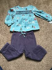 FREE SHIPPING Nwt Girls Mini Boden Nature Outfit Pants & Blouse Size 18-24 MTHS
