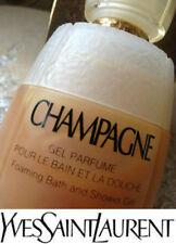 100% Auténtico más allá de la rara Vintage enorme YSL CHAMPAGNE espuma Bath & Gel de Ducha