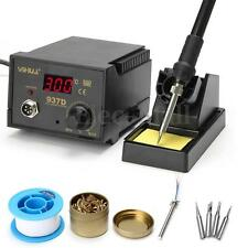 937D 45W Digital Display Soldering Iron Station 4 Tip Lead Welding Tool Kit