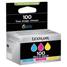 Lexmark 100 Original Genuine 3 Colour 14N0849 14N0900E 14N0901E 14N0902E CMY NEW