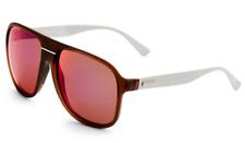 GUCCI Square Men Sunglasses GG 1076/S Translucent Brown Purple Mirrored JWNBJ