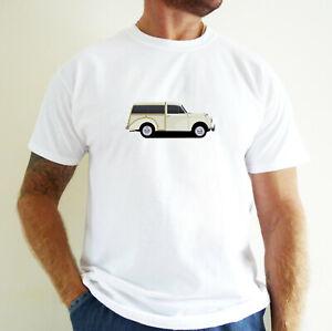 MORRIS TRAVELLER (CREAM) CAR ART T-SHIRT.