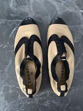 CHANEL Shoes Beige/black 39EU 100% Authentic