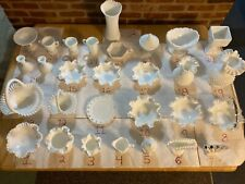 Lot of Vintage milk glass (Fenton & Westmoreland, etc)