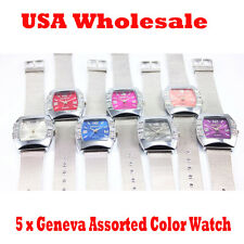 5 x New Alloy Net Band Watch Trendy Color Girl Women Wrist Watch - Wholesale Lot