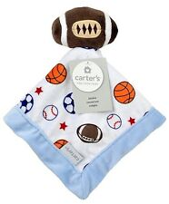 NEW Carters Football Sport Baby Security Blanket Soccer Basketball Lovey Blankie