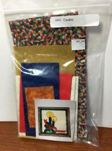 #401 Candles Applique Kit - Christmas Holly, Candles, and Mosaic Border
