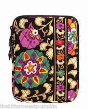VERA BRADLEY~QUILTED L-ZIP E-READER SLEEVE~SUZANI~FITS I-PAD MINI-ETC~BNWT!