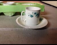 Made In China SET OF 6 COFFEE/TEA CUPS AND SAUCERS - FINE PORCELAIN CHINA *NEW*