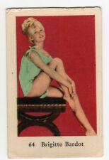 1960s Swedish Film Star Card Star # 64 French Sex Symbol Brigitte Bardot seated