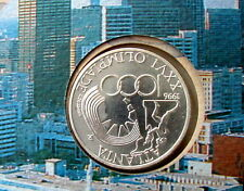 1996 Italy 1000£ silver coins Atlanta Olympic games UNC/BU in official folder