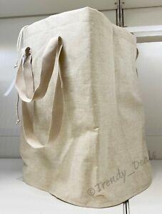 Ikea PURRPINGLA Laundry Storage Bag w/Drawstring X-Large 26 Gallon, Beige - NEW