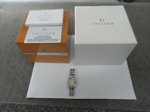Ladies Concord Solid 18k White & Diamond Watch Excellent Condition w/ Box
