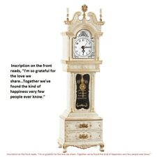 Anniversary Gifts Her Wife Antique White Grandfather Clock Music Box & Storage