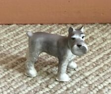 Miniature Vintage Schnauzer Dog Porcelain China Figurine - 2�
