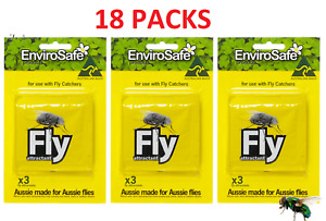 18 x Envirosafe Fly & Wasp Attractant Refill Sachets for Fly&Wasp Trap Station