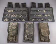 Lot of 5 ACU Magazine MOLLE Pouches, 3 Double + 2 Triple Mag Pouches, US Army