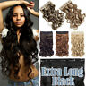 Extra Long Black Extensions One Piece Clip In Thick Wavy As Human Hair Half Head