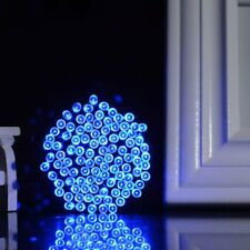 Blue Solar Powered 100 LEDs String Fairy Tree Light Outdoor Wedding Party Xmas