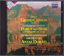 Antal Dorati: Grofe Grand Canyon Gershwin Porgy and Bess SUITE CD DECCA 1984