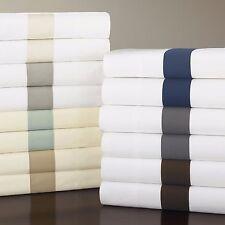 Sferra Orlo Full/Queen Flat Sheet WHITE/GREY X128