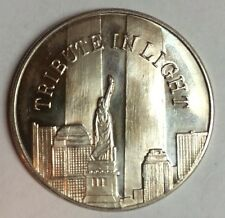 A TRIBUTE IN LIGHT 9/11 SEPTEMBER 11 COMMEMORATIVE 1oz SILVER COIN 999 O1036