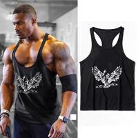 Men Stringer Bodybuilding Tank Top Gym Fitness Singlet Sleeveless Muscle Vest