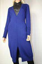 Cora kemperman Diseñador Vestido de punto Merino Lana Talla S Azul %%%