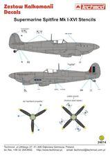 TECHMOD 1/24 Supermarine Spitfire Stencils # 24014