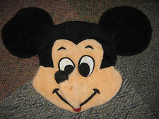 2 Vintage Mickey Mouse & Minne Mouse Pillow Covers 60's/70's Plush Disney