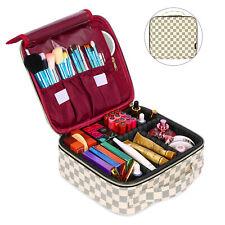 Women Professional Makeup Organizer Bag Travel Cosmetic Suitcase Large Capacity