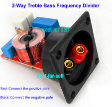 60W 2-Way 2 Unit Audio Speaker Crossover Filter Treble Bass Frequency Divider