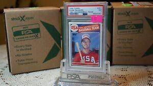 1985 Topps #401 Mark McGwire 1984 USA Baseball Team RC PSA 7