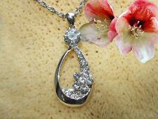 Kette mit Anhänger mit Swarovski Kristall Farbe Silber Schmuck nickelfrei  14